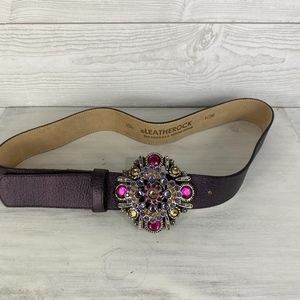 Leatherock I Vintage Purple Belt w/Jeweled Buckle
